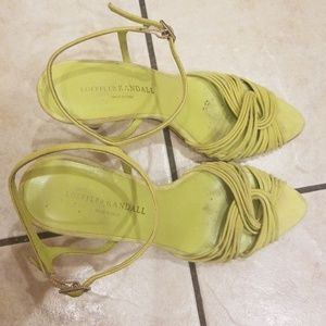 Vintage Loeffler Randall Chartreuse Cone Heels Sz8